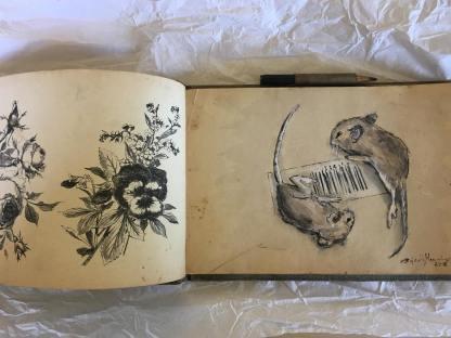 """Dead Mice"", Tusch Aquarell, 2019"