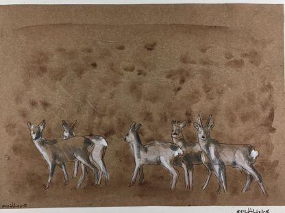 """Deer"", Aquarell auf Papier"