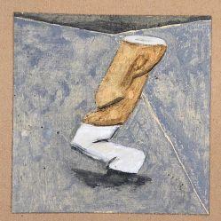 """""""Kippe"""" Eitempera auf Papier, 15x15cm, 2019"""